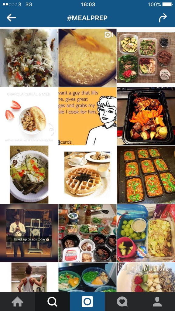 fitfam instagram meal prep
