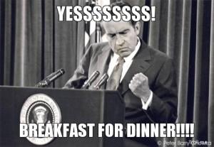 breakfast for dinner meme