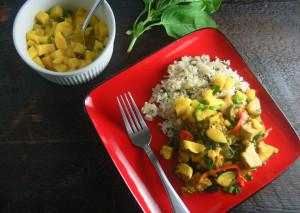 Bodybuilding Basis Chicken Curry coconut rice recipe