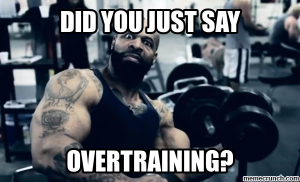 signs of overtraining